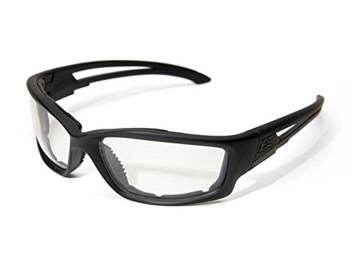 Edge Eyewear Blade Runner Glasses, Matte Black Frame with Gasket/Clear Shield Lens
