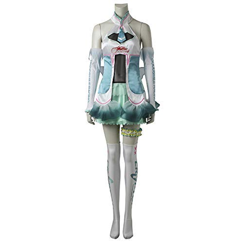 Wo Fei Vocaloid Miku ver 2017 Super GT Racing Miku Cosplay Show Costume (Man S) -