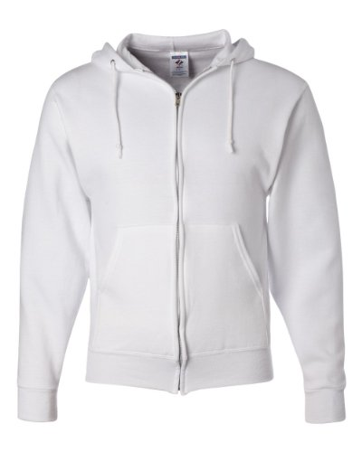 JERZEES - NuBlend Full-Zip Hooded Sweatshirt - 993MR - White - Small