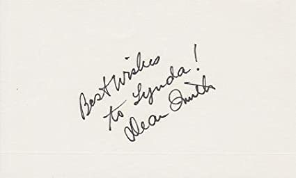 e48d0ccb871 Dean Smith Signed - Autographed 3x5 Index Card - Guaranteed to pass or JSA  with personalization