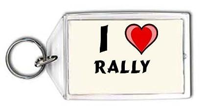 Shopzeus Llavero con Estampado de Te Quiero Rally (Nombre de ...