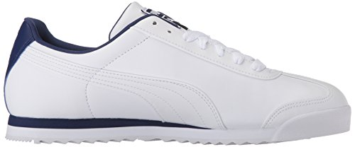 Sneaker Puma Mens Roma Basic Sneaker Bianco-blu Profondità