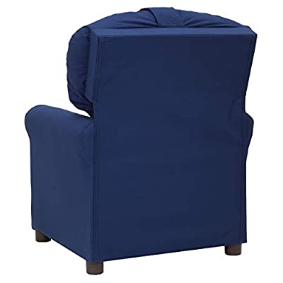 The Crew Furniture 991610 Traditional Kids Microfiber Recliner Chair Estate Blue: Sports & Outdoors