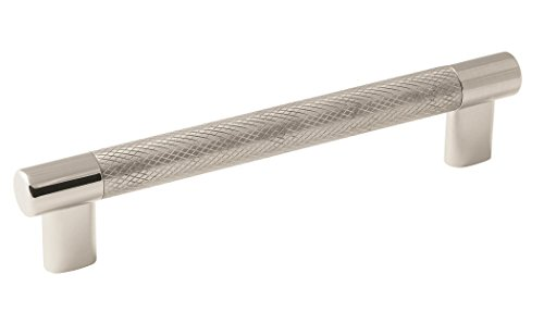 (Amerock BP36559PNSS Esquire Cabinet Pull, 6-5/16 in (160 mm) Center-to-Center, Polished Nickel/Stainless Steel)