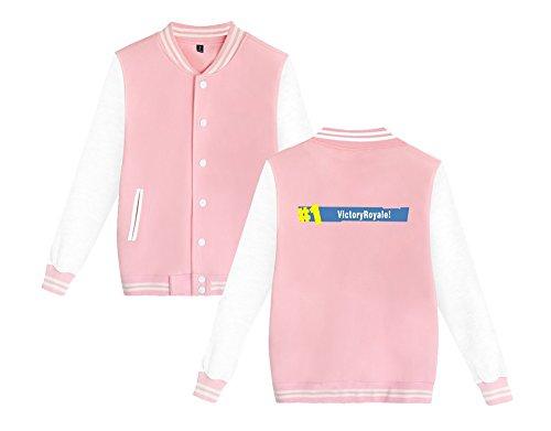 E Pink6 Stampate Comode Casual Fortnite Unisex Baseball Allentato Leggera Donne Sweatshirts Da Per Giacca Moda Uomini Aivosen wfxq6Wga0q
