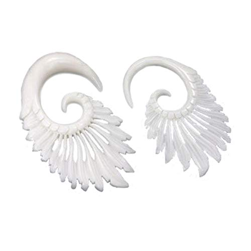 Feathers Bone Hanger Organic Body Jewelry - 3mm-8mm - Price Per 1-6mm ~ 2g
