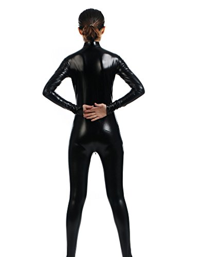 Unisex-Second-Skin-Costume-With-Front-Zip-Solid-Zentai-Dancewear