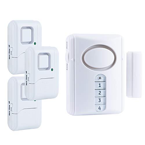 Ge Personal Security Alarm Kit Includes Deluxe Door Alarm With Keypad Activation And Window Door Alarms Easy Installation Diy Home Protection Burglar Alert Magnetic Sensor Off Chime Alarm 51107