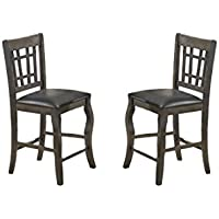 Milton Greens Stars 8718GR Burgos Counter Height Chair, Gray, Set of 2