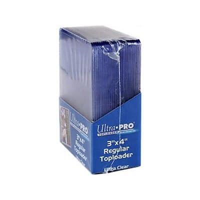 Ultra Pro 400 Regular TOPLOADERS Standard Size New Top Load Lot: Sports & Outdoors