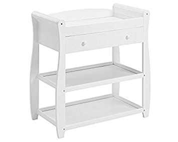 Merveilleux Babymore Sleigh Changer With Drawer (White)