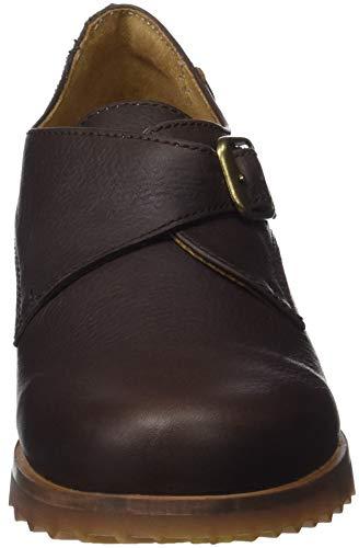 con Tacón Brown Marrón N5109 Brown para Mujer de El Soft Zapatos Punta Grain Naturalista Kentia Cerrada Brown TwzxqS4UB