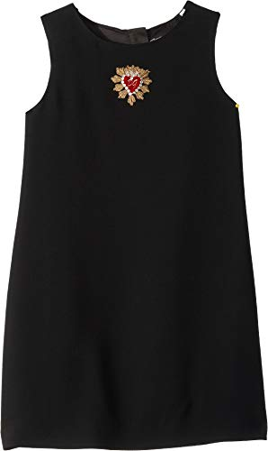 Dress Dolce Pink Gabbana - Dolce & Gabbana Kids Girl's D&G Pink Heart Dress (Little Kids) Black 6
