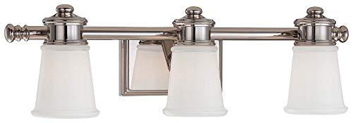 - Minka Lavery 4533-613 Transitional Bath Art 3-Light Bath Vanity in Polished Nickel