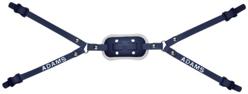 Gel Cup Football Chin Strap - Adams USA GEL-50-4D 4-Point High Football Chin Strap with D-Rings, Navy Blue