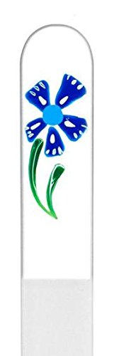 Windmill Flower Hand Painted Genuine Czech Republic Crystal Nail File - Set of Three ()