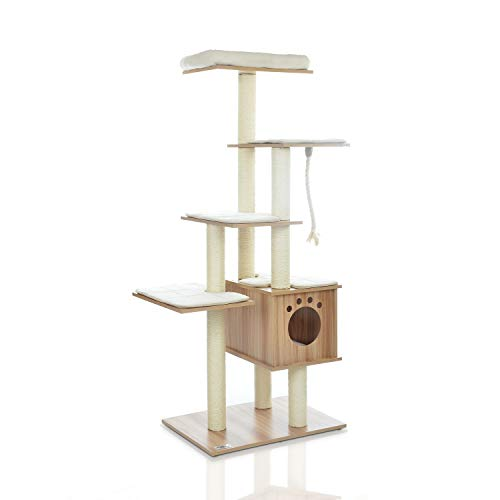 Thing need consider when find modern cat trees and towers tall?