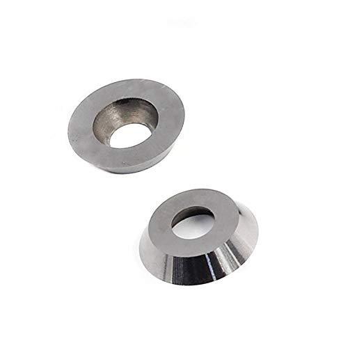 YAN Xuan 2pcs 12mm and 16mm Round Carbide Cutters Inserts Set for Wood Working Planer Lathe Turning Tool