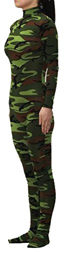 Seeksmile Unisex Lycra Spandex Zentai Dancewear Catsuit without Hood (Large, Camouflage Green)