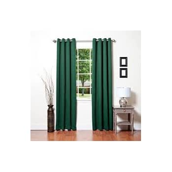 hunter green kitchen curtains awad home fashion 2 panels solid green 4384