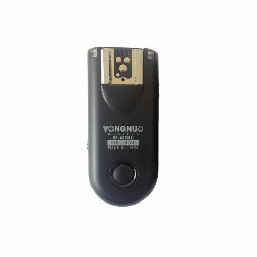 Yongnuo RF-603ii Single 2.4GHz Wireless Flash Trigger/Wireless Shutter Release Tranceiver for Nikon (2.4 Ghz Single)