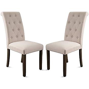 Amazon.com - Ansley&Hosho Set of 2 Dining Chair Vintage Mid-Century ...