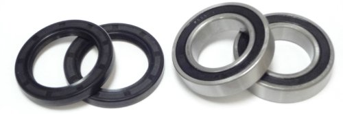 (Suzuki LT-Z400 LTZ400 400 Rear Axle Wheel Carrier Bearings and Seals Kit 2003 - 2008)