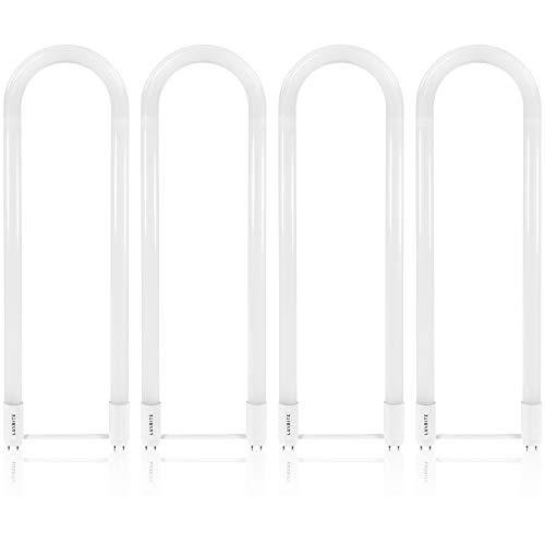 Luxrite U Bend LED Tube Light, T8 T12, 18W (32W Equivalent), 4000K Cool White, 2200 Lumens, Fluorescent Light Tube Replacement, Direct or Ballast Bypass, DLC and ETL Listed, G13 Base (4 Pack)