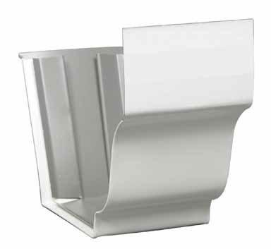 Amerimax K Slip Connector 5 '' Aluminum White