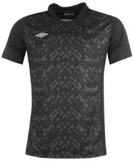 Umbro Geometra negro Poli camiseta hombres grandes