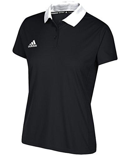 - adidas Women's Game Built Coaches Polo - Black/White - Large