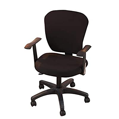 Jinzio Computer Office Chair Cover - Split Protective & Stretchable Cloth Polyester Universal Desk Task Chair Chair Covers Stretch Rotating Chair Slipcover