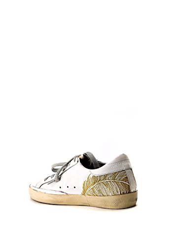 Golden Goose Sneakers Donna G30WS590B36 Pelle Bianco/Oro