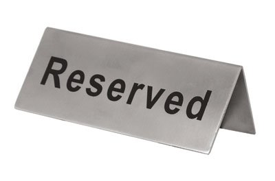 Reserved Signs Stainless Steel Double Sided Pack of 6 by The First Ingredient