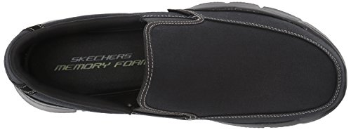 Skechers Sport Mens Equalizer Mind Game Slip-On Loafer Black Canvas 12R8fb9y7s