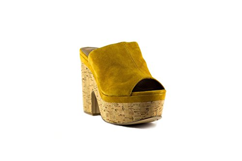 EMANUELLE VEE Women's Fashion Sandals Mustard ylyavD87u