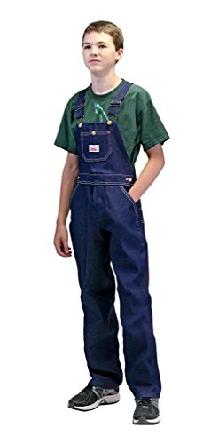 Boys In Bib Overalls (Round House Youth 8-16 Demin Overalls - Made in USA)