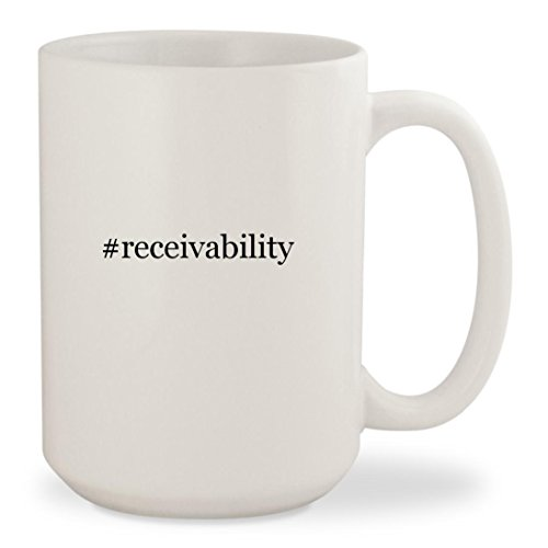Price comparison product image #receivability - White Hashtag 15oz Ceramic Coffee Mug Cup
