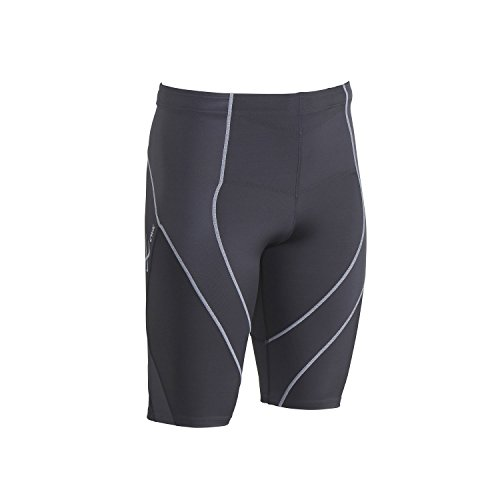 CW-X Men's Endurance Pro Shorts, Charcoal/Charcoal/Silver, Small by CW-X (Image #1)