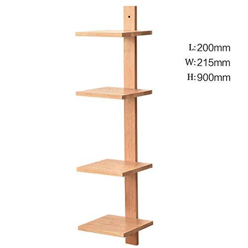 GWXJZ CD DVD Racks Wall Mount Oak Shelf Floor-Standing Bookshelf CD Rack Nordic Simplicity Shelf Display Stands Clapboard Rack (Color : A) (Revolving Tower Cd Oak Media)