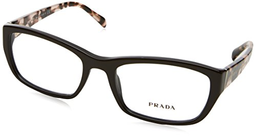 Prada PR18OV Eyeglass Frames DHO1O1-52 - Dark Brown - Prada Glasses Price