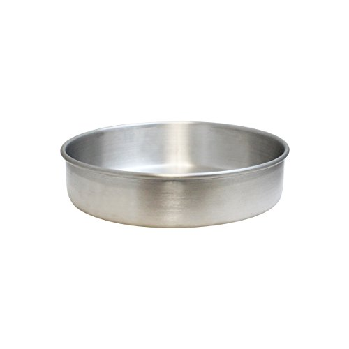 Excellanté 8 inch x 2 inch Layer Cake Pan, Aluminum, 1.0mm