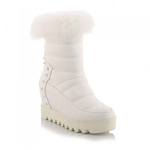 Zapatos Botas 120w Mujer Para De Tacones White Altos Mujer Xie Moda 6OdX46