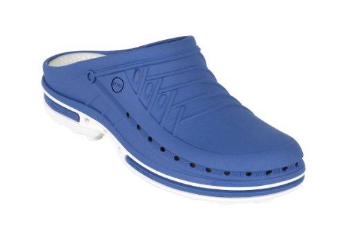 Clog - WOCK Professional Footwear - Sterilizable; Antistatic; Antislip; Shock Absorption White/Medium Blue wHvxPaU6