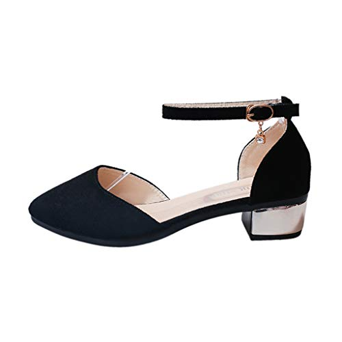 7cm Sandales Talons Chaussures Modaworld Une Petites Noir De Pointus Femme Avec baotou Paire Femme RTfnAf