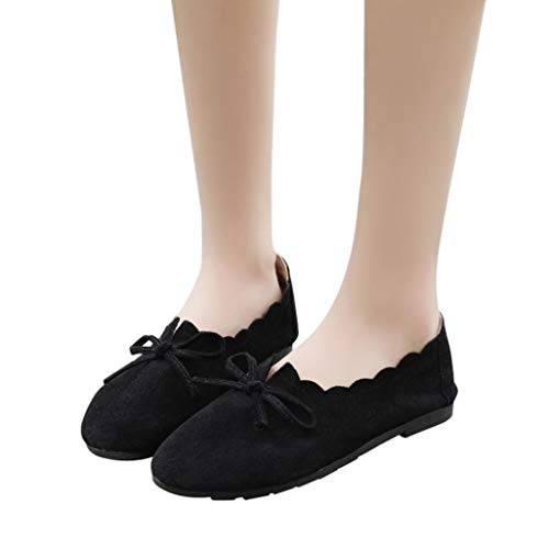 Gyoume Boat Shoes,Teen Girls Dance Shoes Short Boots Women Shallow Boots Shoes Flat Wedge Dress Shoes by Gyoume (Image #1)