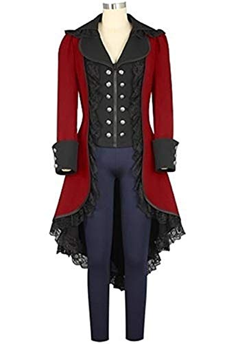 Fengstore Women's Tuxedo Gothic Tailcoat Jacket Steampunk VTG Victorian Suit Coat Halloween Christmas Wedding Cosplay Uniform by Fengstore