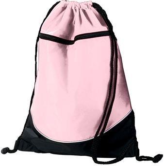 Tri-Color Drawstring Backpack - Pink/Black/White (Bag Sport Color Tri)