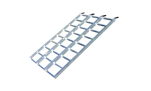 Yutrax TX103 Silver 70-inch Aluminum Tri-Fold Ramp, UTV Ramp/ATV Ramp/Motorcycle Ramp/Loading Ramps for Lawnmower, Snow Blower 1750lb Capacity