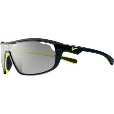 Nike Road Machine Wrap Sunglasses, Black/Voltage/Grey